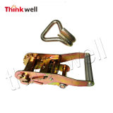 Tie Down Ratchet Buckle with Double J Hook