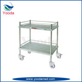 2 Layers Hospital Stainless Steel Instrument Trolley