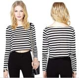 OEM Sexy Women Clothing Fashion Long Sleeve Cotton Ladies Tops