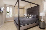 Hotel Wooden Frame Bedroom Sofa Chair Furniture Set with Fabric Headboard