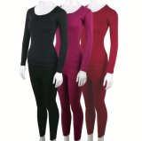 Merino Wool Women′s Long Sleeve Thermal Underwear for Winter