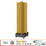 Store Display - MDF Slatwall Shop Display with Caster W01-3 Floor Display and Floor Stand