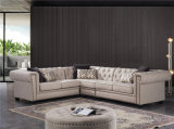 2018 New Chesterfiled Corner Fabric Sofa with Button Tufted