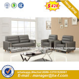 Brown Color 1+1+3 Solid Wood Oak Leather Office Sofa (HX-S346)