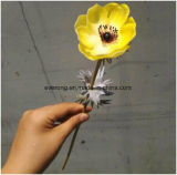 Wholesale Home Decoration PU Artificial Flowers High Hand-Feeling Fake Flowers Anemone Flower