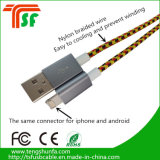 Factory Price 2 in 1 USB Data Cable for iPhone & Android Phones