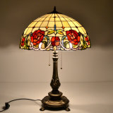 Customized Tiffany Style Stained Glass Table Lamp with Handcrafted Shade
