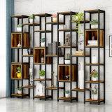 Living Room Porch Display Rack Display Cabinet Wrought Iron Bookshelf Floor Shelf Screen Storage Rack