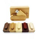 8GB 16GB 32GB DIY Wooden Swivel USB Flash Drive Cheap USB Flash Drive Memory Stick