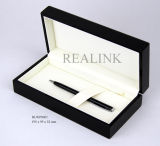 High-End Wooden Sprayed Pen Box in Matt Black Finishing, Gift Box Packaging Box