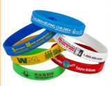 Customized Logo Silicone Wristband for Sports Competition
