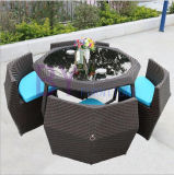 Creative Outdoor Garden Terrace Courtyard Cafe Leisure PE Rattan Table and Chair Furniture