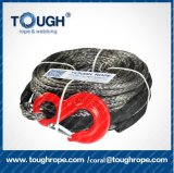 7mm*15m Manufacturer Endless Winch Rope Synthetic with Stainless Steel Thimble, End Lock with Stick Strap, 1m Protect Sleeve