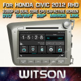 Witson Windows Radio Stereo DVD Player for Honda Civic 2012 Rhd