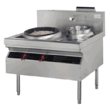 Commercial Gas Stove, Single Head W/2 Rear Pot Chinese Cooking Range (FG1E110RG)