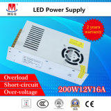 SMPS 12V 200W Single Output Switching Mode Power Supply 16.6A for LED