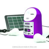 DC Solar Panel Kit, Home Solar Power System with Wireless Speakers Bluetooth
