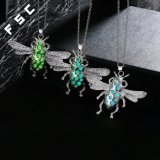 Silver Plated Insect Pendant Necklace Unisex Fashion Jewelry