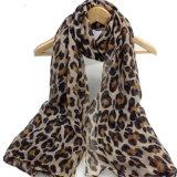 Womens Spring Chiffon Leopard Printing Shawls Sunscreen Wrap Cape Scarf (SW117)