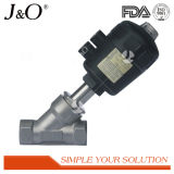 Sanitary Stainless Steel Angle Seat Valve with Plastic Actuator