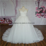 Lace V Neck Latest Wedding Dress Ball Gown