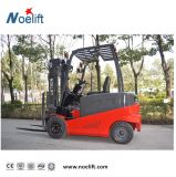 Four Wheel 2.5t Gasoline Forklift Truck with Side Shifter and Container Mast for Container Loading
