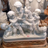 Natural White Marble Statue, Stone Carving Figure Sculpture for Garden