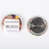 Fashion Tin Button Badges Reflect Logo for Festive Party Favor