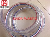 Industrial Clear Water Fuel PVC Spring Spiral Pipe Steel Wire Reinforced Delivery Hose