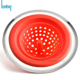 Custom Durable/Foldable Drains Sink Cullender Silicone Rubber Filter/Strainer/Colander/Filtrator for Bathroom/Kitchen
