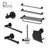 Modern Black Brass Stainless Steel Hardware Home Hotel Bathroom Accessory
