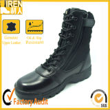Black Genuine Cow Leather Military Army Police Tactiacl Boot