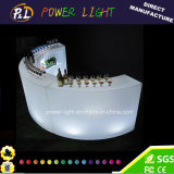 PE Plastic 16 Colors Changing LED Furniture Curved Bar