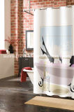 Cheaper Polyester Curtain Sr-S170222-2 Printed Microfiber Shower Curtain