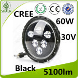 High/Low Beam 7 Inch Round LED Car Light with Angel Eyes for Jeep, Halley