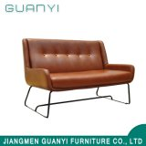 Real Leather Sofa with Stainless Steel Legs