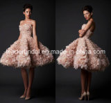 Puffy Cocktail Dress Short Wedding Gown Pink Prom Dresses E1319