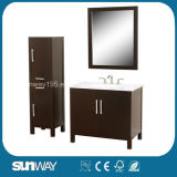 Hot Solid Wood Bathroom Cabinet with Side Cabinet Sw-S002