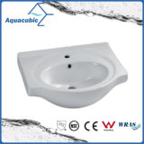 Semi-Recessed Bathroom Ceramic Cabinet Basin Hand Washing Sink (ACB4460)
