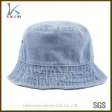 Custom Washed Brushed Cotton Denim Bucket Hat