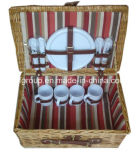 Eco-Friendly Customized Willow Basket for Picnic with Rectagular Shape