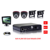 Monitoring! ! 4CH H. 264 Compression Full D1 Record SD Mobile DVR