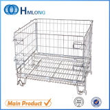 Folding Stackable Wire Mesh Container for Storage