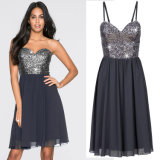 Cheap Fashion Women Dress Clothing Sweet Party Evening Bodycon Ladies Dress Sequined