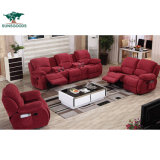 Most Popular Fabric Recliner Couch Set Home Theater Wood Frame Sofa