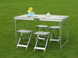 Outdoor Aluminum Folding Table with Chair (ET9912-H1)
