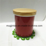 Kitchenware Storage Tank Enamel Gift Cup Set with Wooden Cover