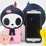 Skull Shape Cartoon Silicone Rubber Phone Cover for iPhone