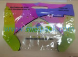 Shaped / Customized Plastic Bag Punch Fruit Bag with Handle