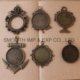 Bronze DIY Necklace Gem Base Jewelry Trays Pendant Accessories Combination
